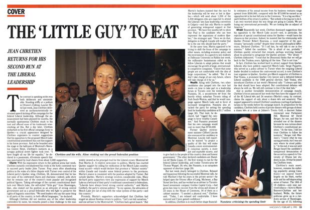 Article Preview: THE 'LITTLE GUY' TO BEAT, February 1990 | Maclean's