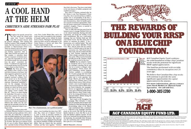 Article Preview: A COOL HAND AT THE HELM, February 1990 | Maclean's