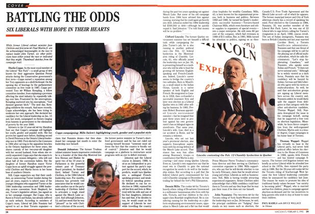 Article Preview: BATTLING THE ODDS, February 1990 | Maclean's