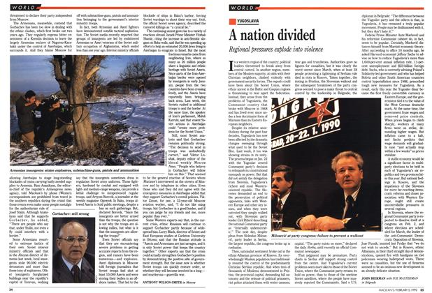 Article Preview: A nation divided, February 1990 | Maclean's