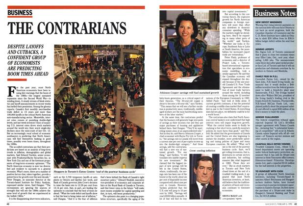 Article Preview: THE CONTRARIANS, February 1990 | Maclean's