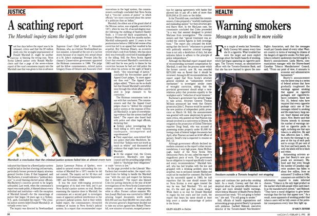 Article Preview: A scathing report, February 1990 | Maclean's