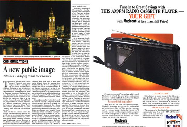 Article Preview: A new public image, February 1990   Maclean's