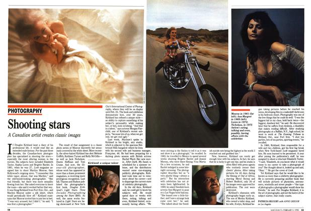Article Preview: Shooting stars, February 1990 | Maclean's