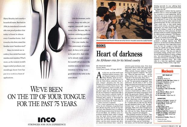 Article Preview: Heart of darkness, February 1990 | Maclean's