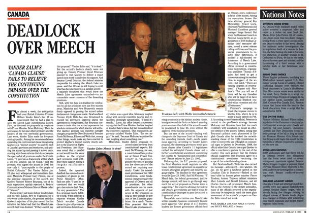 Article Preview: DEADLOCK OVER MEECH, February 1990 | Maclean's