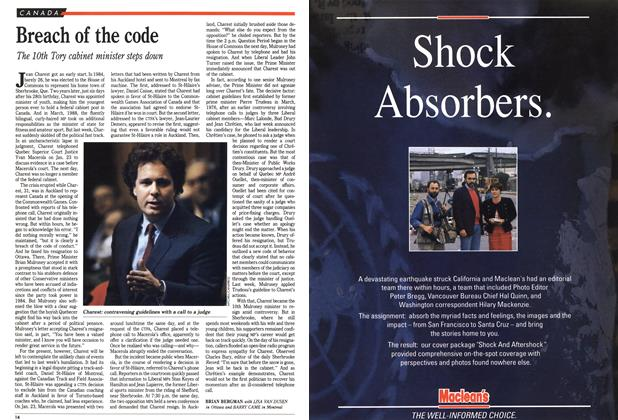 Article Preview: Breach of the code, February 1990 | Maclean's