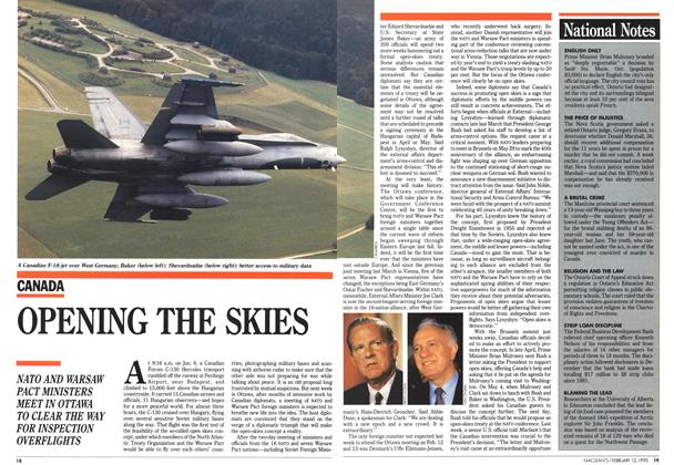 Article Preview: OPENING THE SKIES, February 1990 | Maclean's