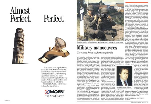 Article Preview: Military manoeuvres, February 1990 | Maclean's
