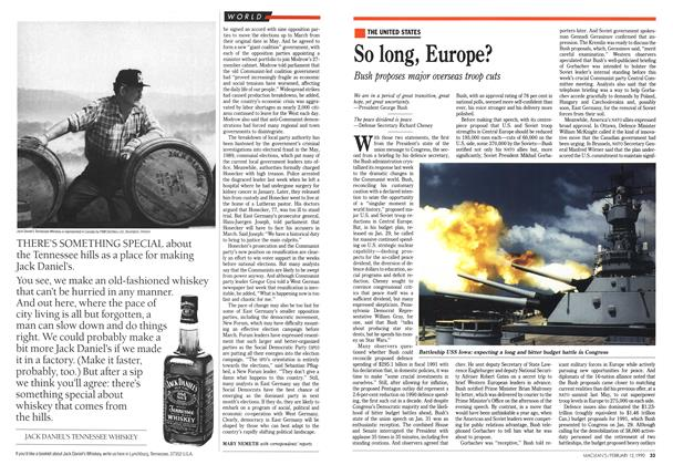 Article Preview: So long, Europe?, February 1990 | Maclean's