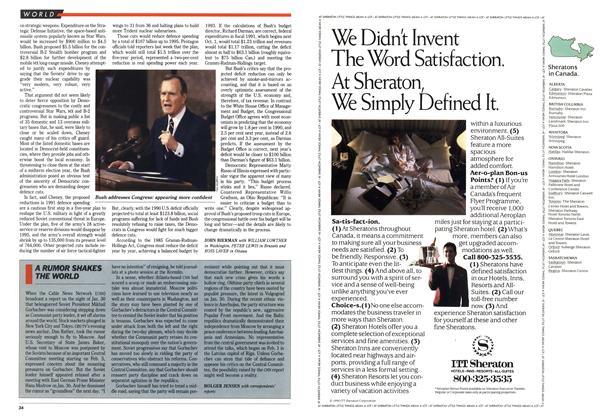 Article Preview: A RUMOR SHAKES THE WORLD, February 1990 | Maclean's