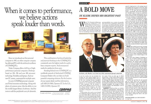 Article Preview: A BOLD MOVE, February 1990 | Maclean's