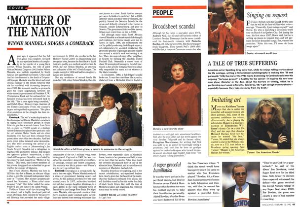 Article Preview: 'MOTHER OF THE NATION', February 1990 | Maclean's