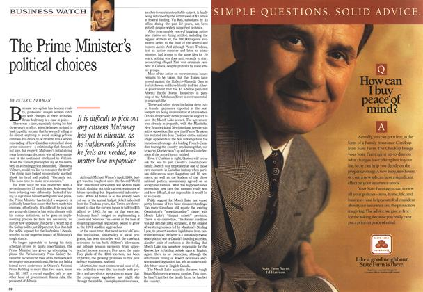 Article Preview: The Prime Minister's political choices, February 1990 | Maclean's