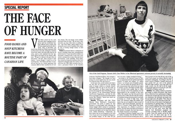 Article Preview: THE FACE OF HUNGER, February 1990 | Maclean's