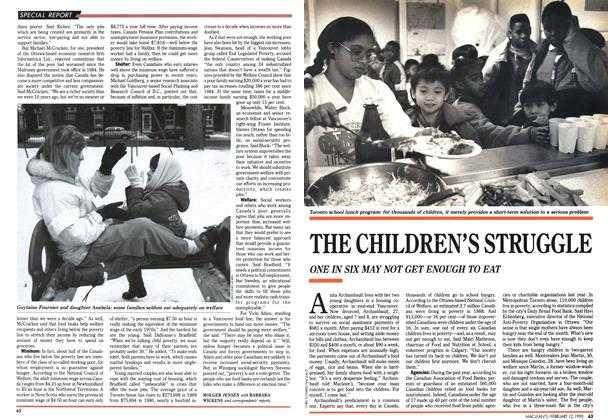 Article Preview: THE CHILDREN'S STRUGGLE, February 1990 | Maclean's