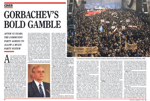 Article Preview: GORBACHEV'S BOLD GAMBLE, February 1990 | Maclean's