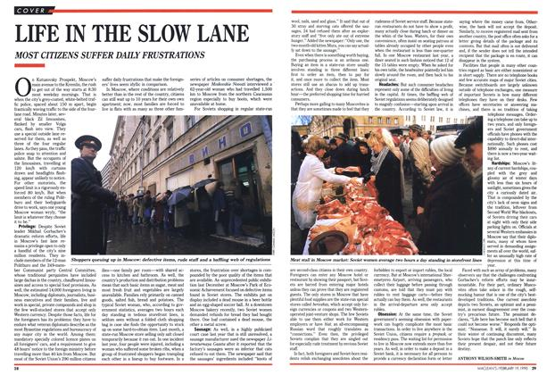 Article Preview: LIFE IN THE SLOW LANE, February 1990 | Maclean's