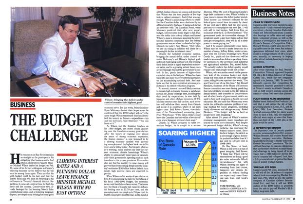 Article Preview: THE BUDGET CHALLENGE, February 1990 | Maclean's