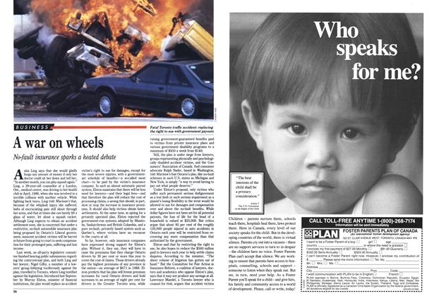 Article Preview: A war on wheels, February 1990 | Maclean's