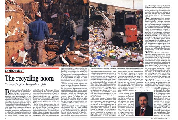 Article Preview: The recycling boom, February 1990 | Maclean's