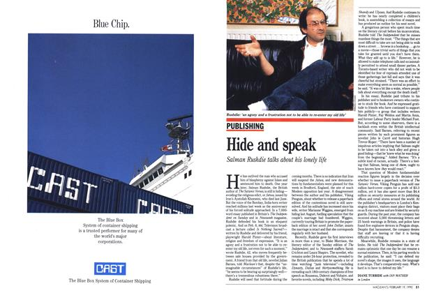 Article Preview: Hide and speak, February 1990 | Maclean's