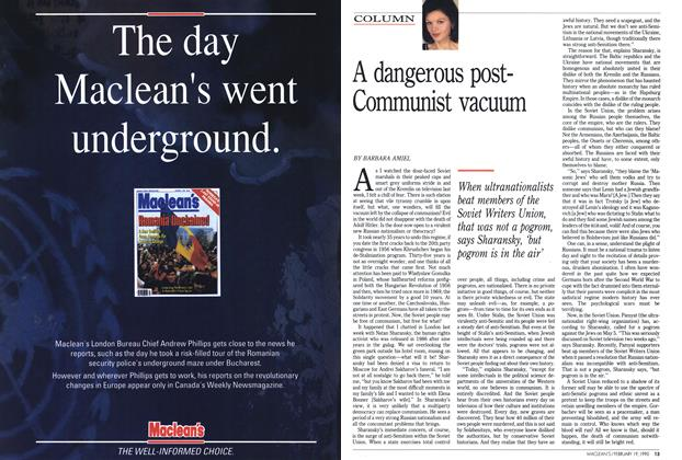 Article Preview: A dangerous post-Communist vacuum, February 1990 | Maclean's