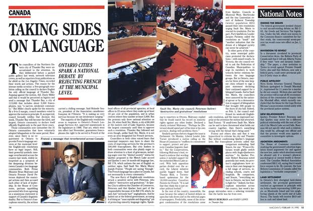 Article Preview: TAKING SIDES ON LANGUAGE, February 1990 | Maclean's