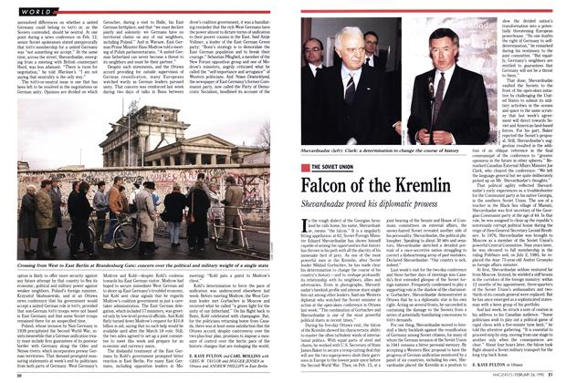 Article Preview: Falcon of the Kremlin, February 1990 | Maclean's