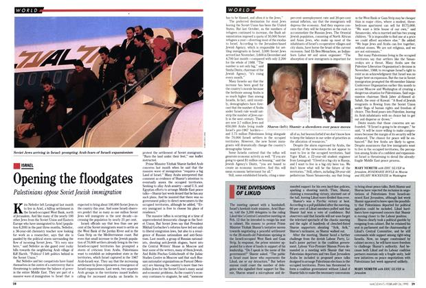 Article Preview: Opening the floodgates, February 1990 | Maclean's