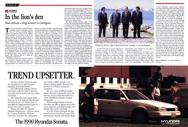 Article Preview: In the lion's den, February 1990 | Maclean's