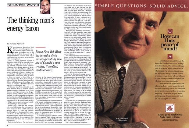 Article Preview: The thinking man's energy baron, February 1990 | Maclean's