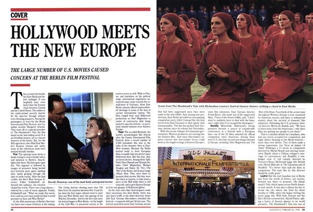 Article Preview: HOLLYWOOD MEETS THE NEW EUROPE, February 1990 | Maclean's