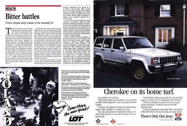 Article Preview: Bitter battles, February 1990 | Maclean's