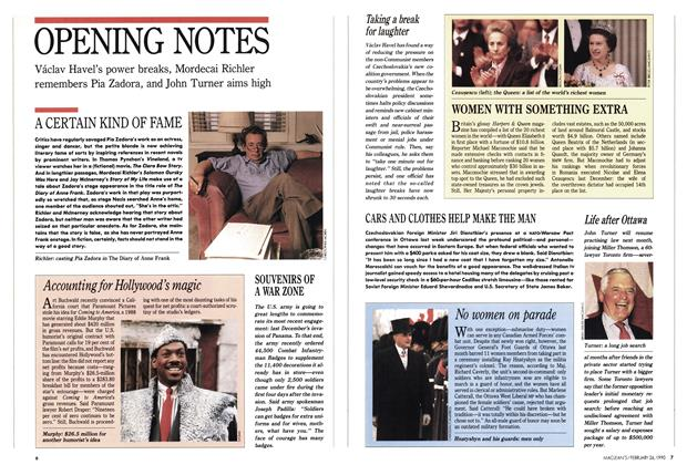 Article Preview: OPENING NOTES, February 1990 | Maclean's