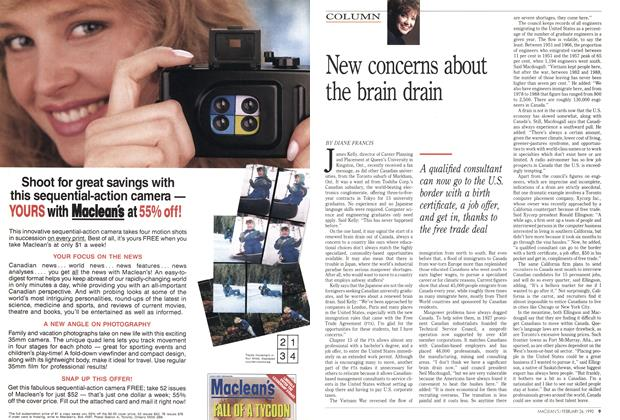 Article Preview: New concerns about the brain drain, February 1990 | Maclean's
