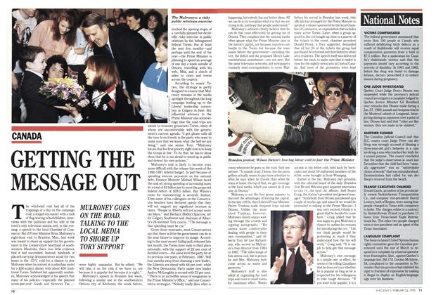 Article Preview: GETTING THE MESSAGE OUT, February 1990 | Maclean's