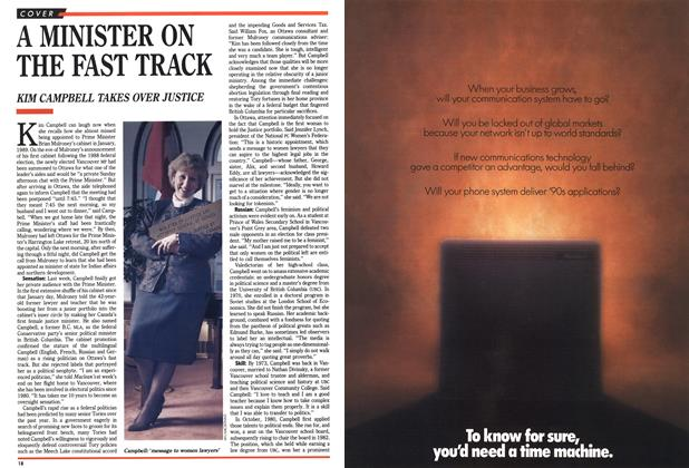 Article Preview: A MINISTER ON THE FAST TRACK, March 1990 | Maclean's