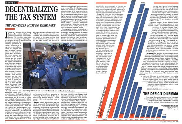 Article Preview: DECENTRALIZING THE TAX SYSTEM, March 1990 | Maclean's