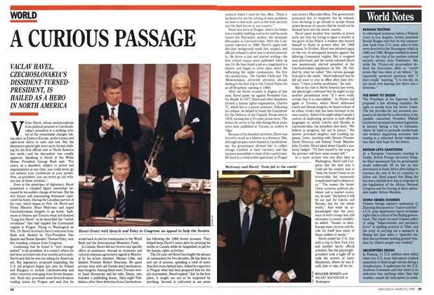 Article Preview: A CURIOUS PASSAGE, March 1990 | Maclean's