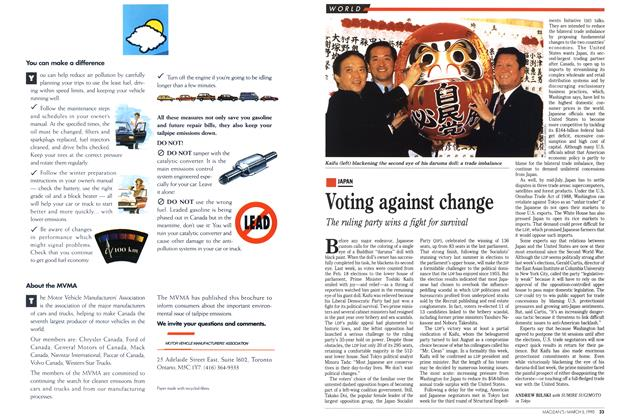 Article Preview: Voting against change, March 1990 | Maclean's