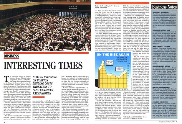 Article Preview: INTERESTING TIMES, March 1990 | Maclean's
