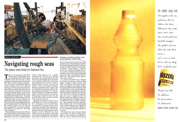 Article Preview: Navigating rough seas, March 1990 | Maclean's