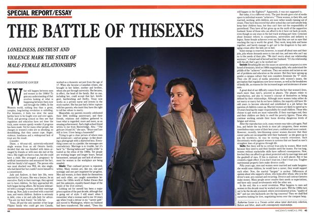 Article Preview: THE BATTLE OF THE SEXES, March 1990 | Maclean's