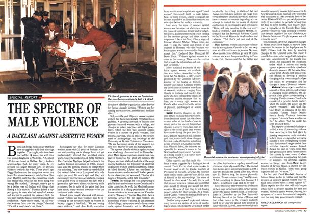 Article Preview: THE SPECTRE OF MALE VIOLENCE, March 1990 | Maclean's