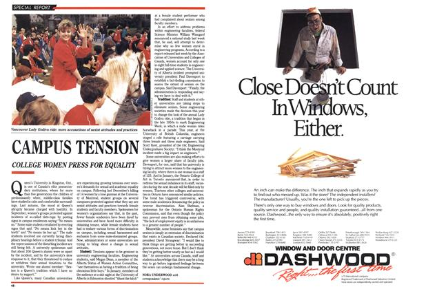 Article Preview: CAMPUS TENSION, March 1990 | Maclean's