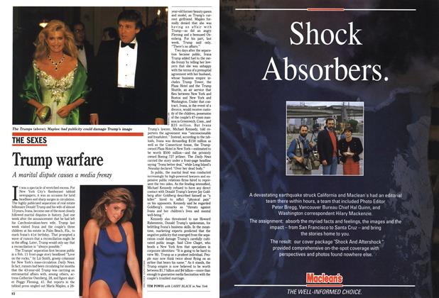 Article Preview: Trump warfare, March 1990 | Maclean's