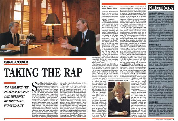 Article Preview: TAKING THE RAP, March 1990 | Maclean's