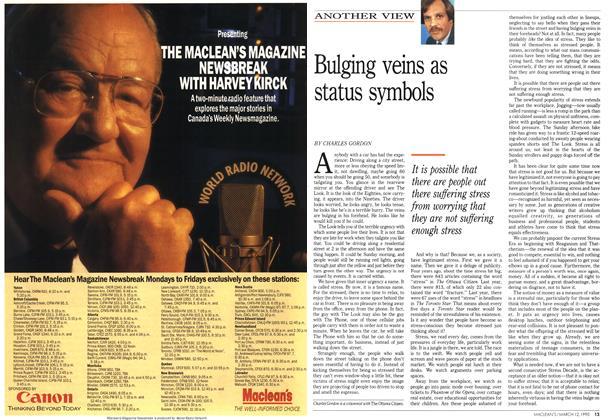 Article Preview: Bulging veins as status symbols, March 1990 | Maclean's