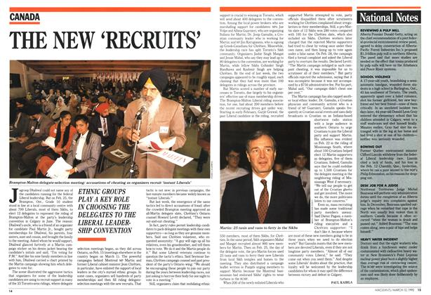 Article Preview: THE NEW 'RECRUITS', March 1990 | Maclean's